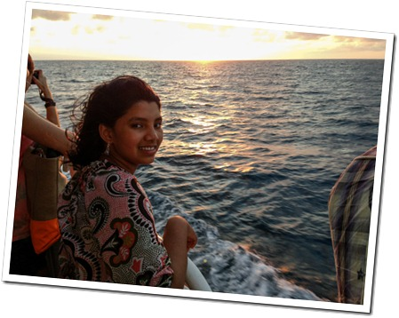 074 Sunset on the Ferry enroute to Roatan from La Cieba, Honduras. (2)