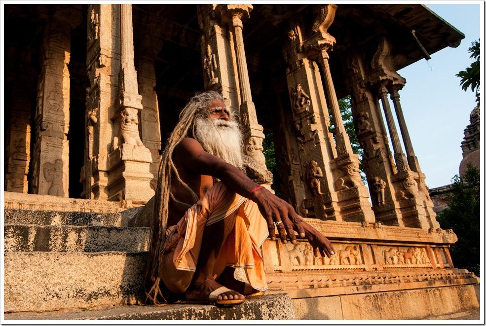 A Hindu Saint at Raghunath Temple, Malyavany Hill, Hampi