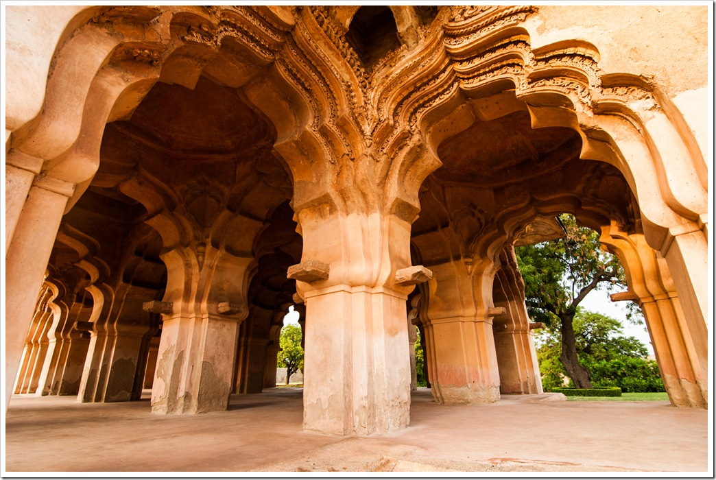 Arches of Lotus Mahal, Hampi - Muslim Architecture Influence