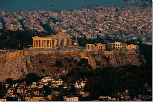 The Acropolis and Parthenon at sunrise. @Athens, Greece