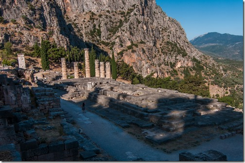 The ruins of the Temple of Apollo @Delphi, Greece