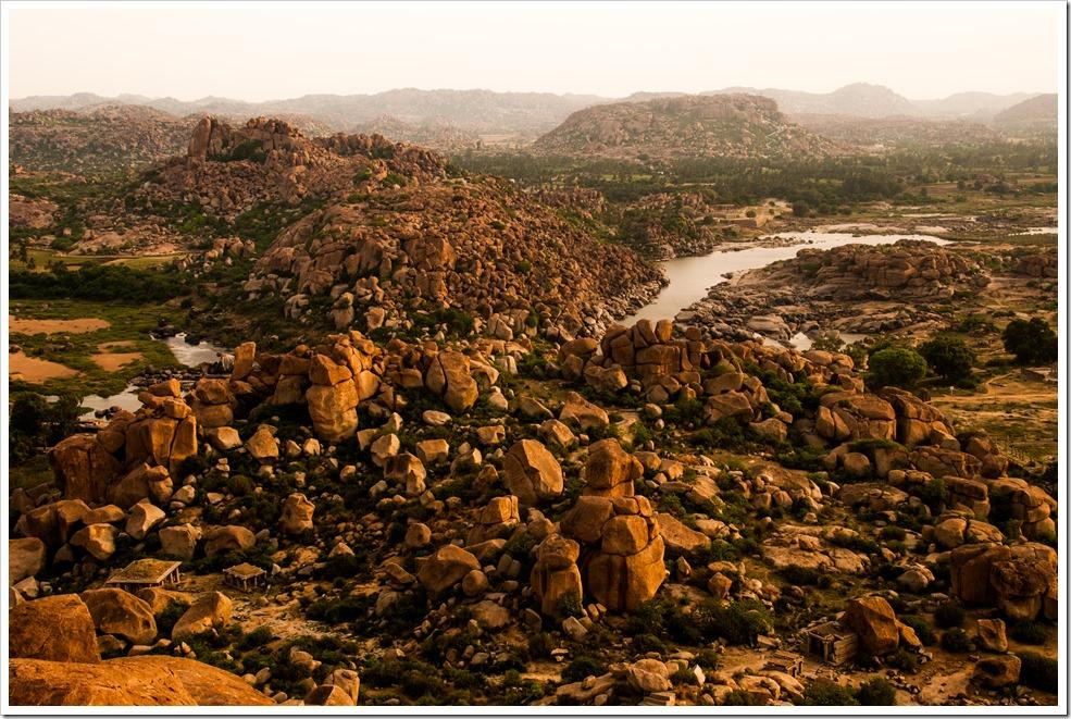 Hampi Sunrise. [Shot from top of Matanga Hill]