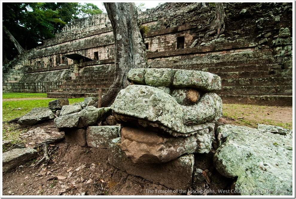 Copan, Honduras - Structure 11, The Temple of the inscriptions, West Court