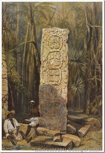 Catherwood's drawing of Stelae F