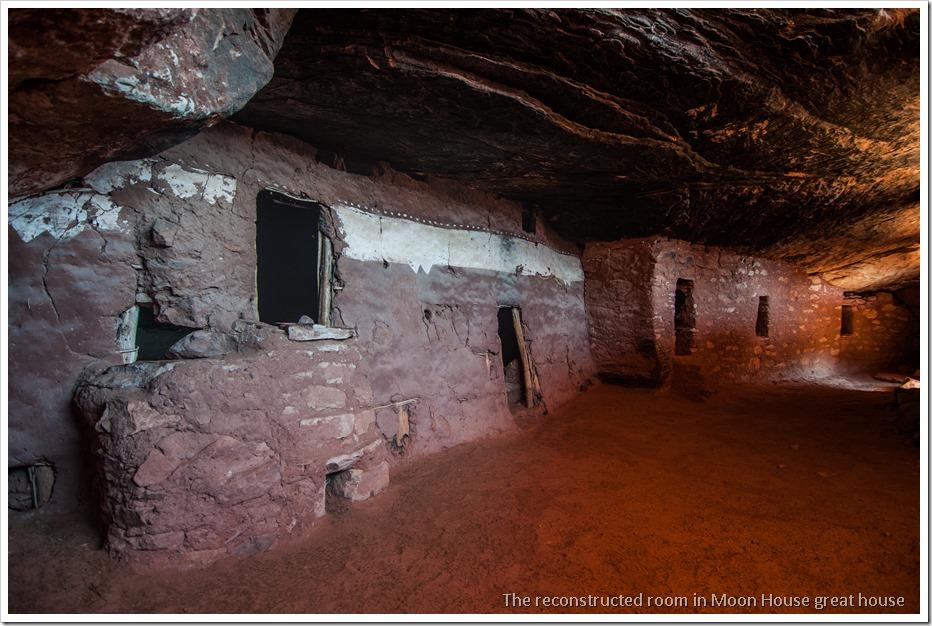The well preserved corridor of Moon House Ruin, McCloyd Canyon, Utah (2)