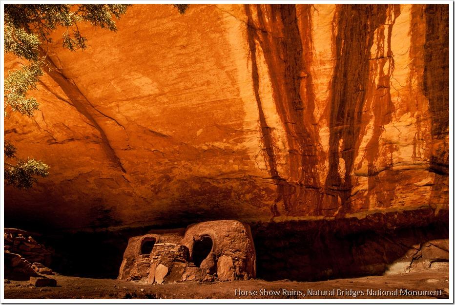 The Anasazi Granaries of Horse shoe Ruin, Natural Bridges National Monument (2)