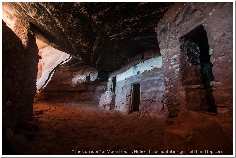 The well preserved corridor of Moon House Ruin, McCloyd Canyon, Utah